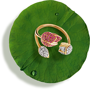 Tanishq Jewellery online-Niloufer collection-ring-1