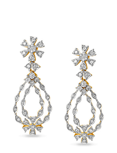 Tanishq Gulnaaz Diamond Earrings - 4