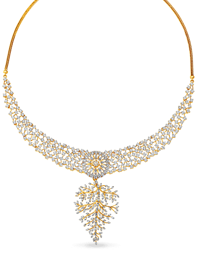 Tanishq Gulnaaz Gold and Diamond Necklace - 2