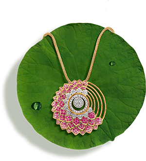 Tanishq Jewellery online-Niloufer collection-pendant-2