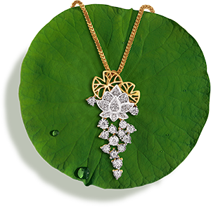 Tanishq Jewellery online-Niloufer collection-pendant-5