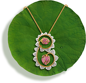 Tanishq Jewellery online-Niloufer collection-pendant-4