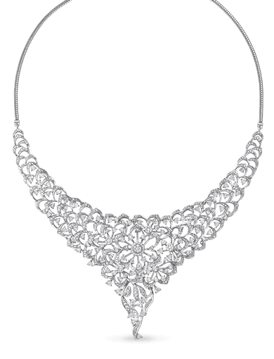 Tanishq Gulnaaz Gold and Diamond Necklace