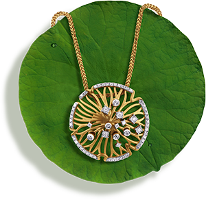 Tanishq Jewellery online-Niloufer collection-pendant-6