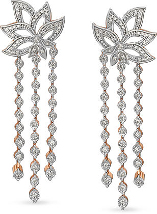 Tanishq Gulnaaz Diamond Earrings
