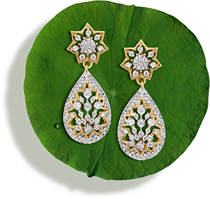Tanishq Jewellery online-Niloufer collection-earring-3