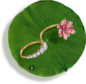 Tanishq Jewellery online-Niloufer collection-ring-3
