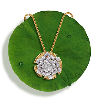 Tanishq Jewellery online-Niloufer collection-pendant-3