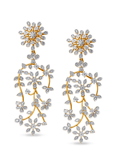 Tanishq Gulnaaz Yellow Gold Earrings - 1