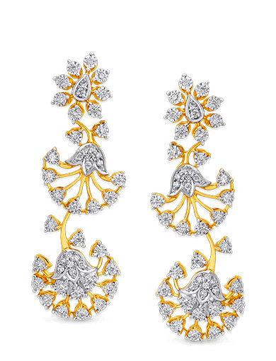 Tanishq Gulnaaz Diamond Earrings - 2